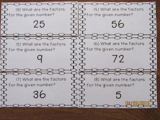 Factors Task Cards
