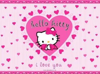 Gambar Hello Kitty Terbaru Merah Jambu Happy New Year Selamat Tahun Baru 2018 Wallpaper HD