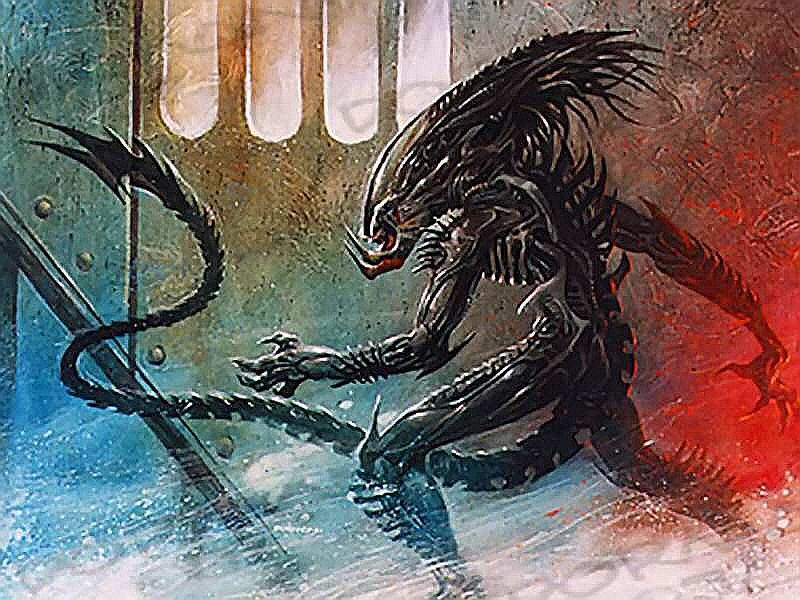 alien explorations dave dorman s predalien mid 1990s