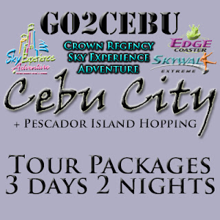 Cebu City + Crown Regency Sky Experience Adventure + Pescador Island Hopping in Cebu Tour Itinerary 3 Days 2 Nights Package