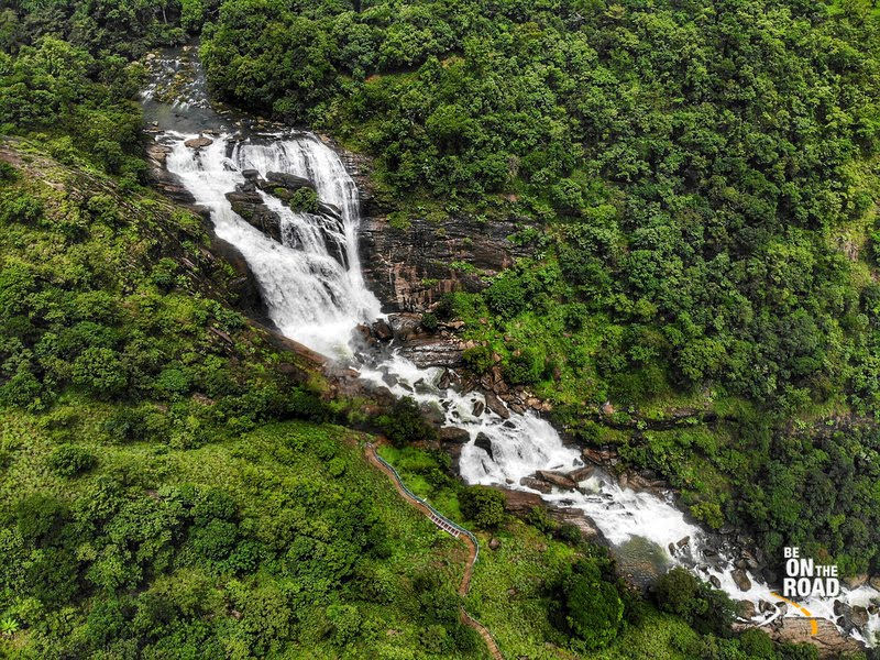 Bird's Eye view of Mallalli Falls, Coorg