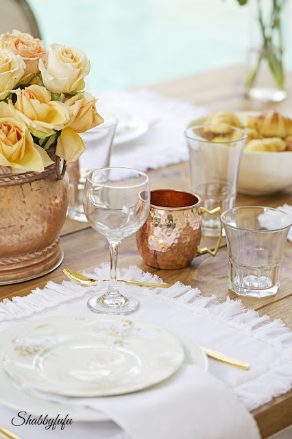 moscow mule mugs at a dinner party