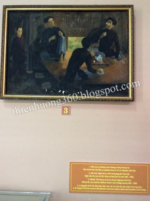 Cụ Nguyễn Sinh Sắc đàm đạo thời cuộc với các nhà nho yêu nước ở Làng Sen