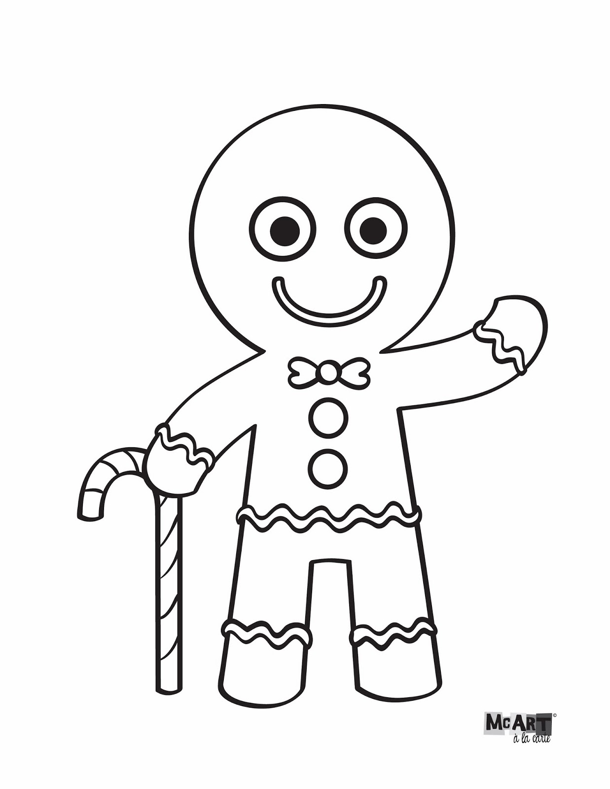 gingerbread coloring page - photo #19