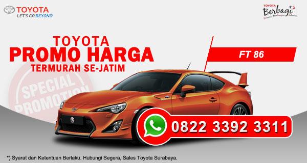 Promo Harga Toyota FT 86 Surabaya