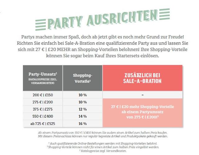 Stampin up Party Buchen und Gratis Produkte sichern