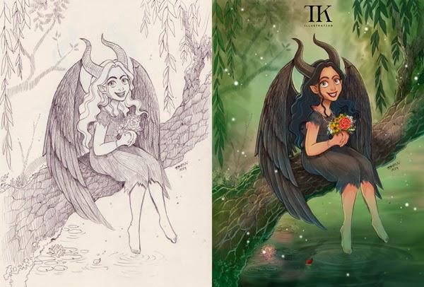 Thomas Kurniawan S Portfolio Digital Painting Young Maleficent