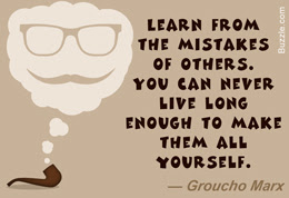 funny quotes learn from the mistakes of others.