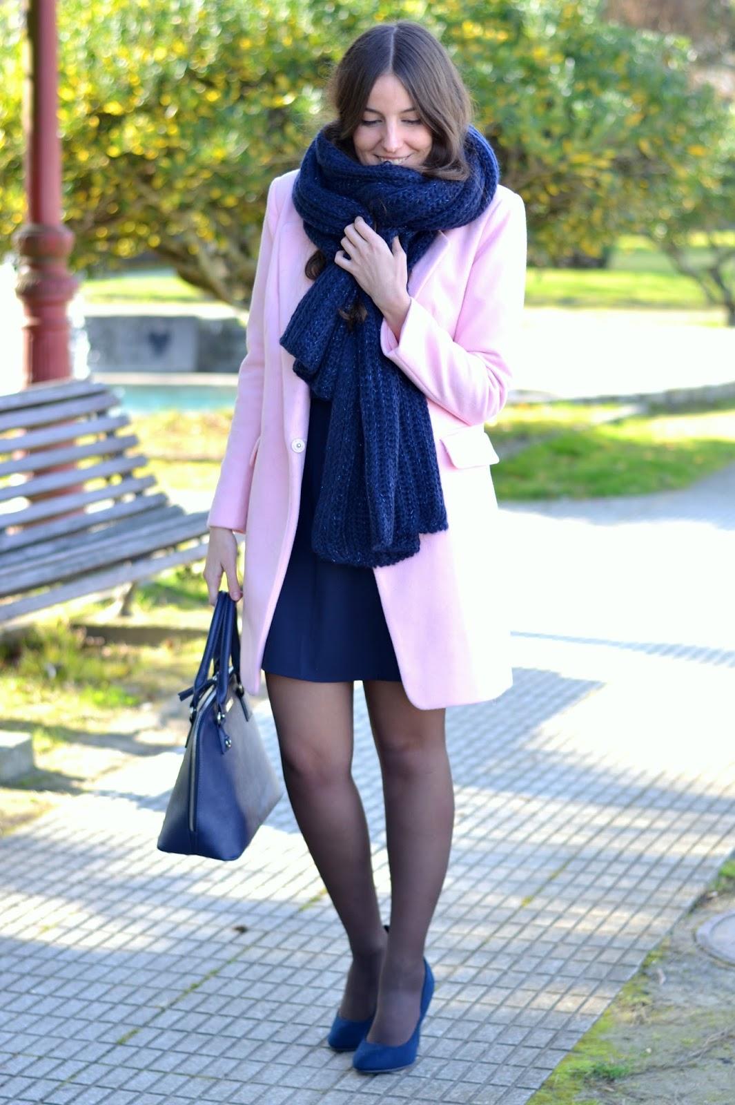 look rosa y azul