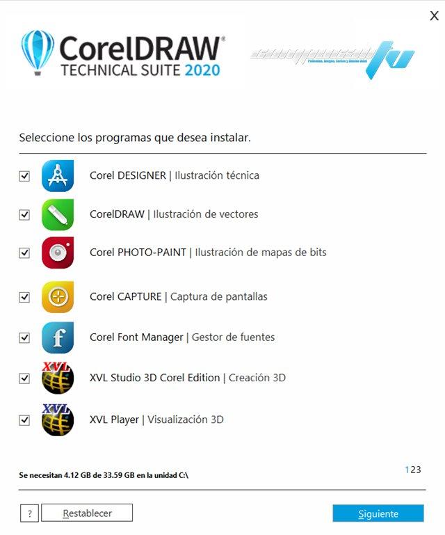 CorelDRAW Technical Suite 2020 Versión Full Español