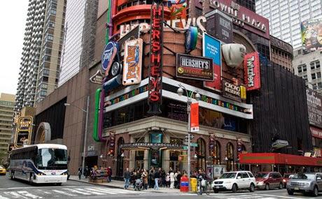 Loja Hersheys Times Square em Nova York
