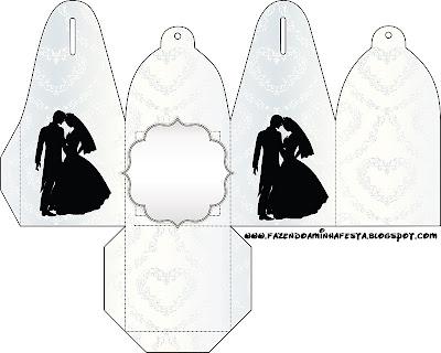 Molde de cajita de vestido de novia