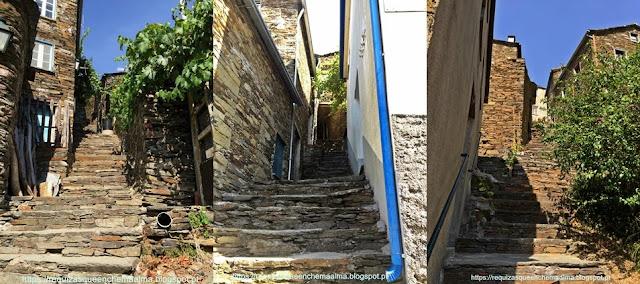 Escadaria das ruas da Aldeia de Piódão, Serra do Açor