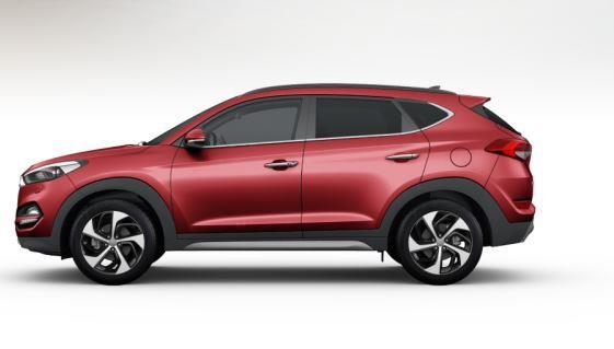 colori Nuova Hyundai Tucson 2016 colore rosso - ultimate red profilo laterale