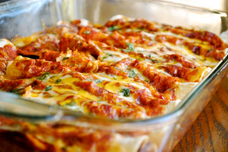Ioanna's Notebook - Chicken Enchiladas