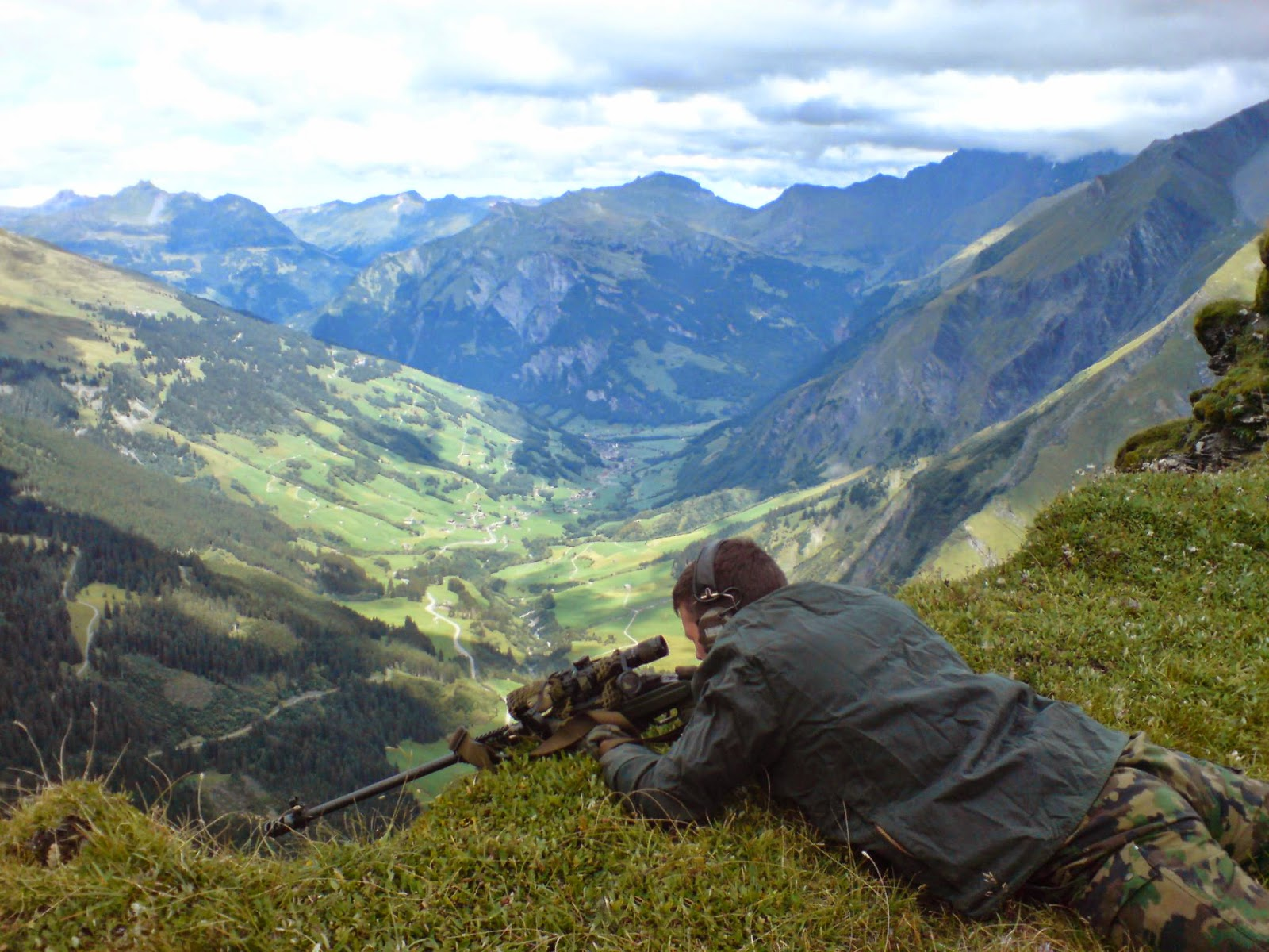 Swiss Special Forces Sniper From Armee