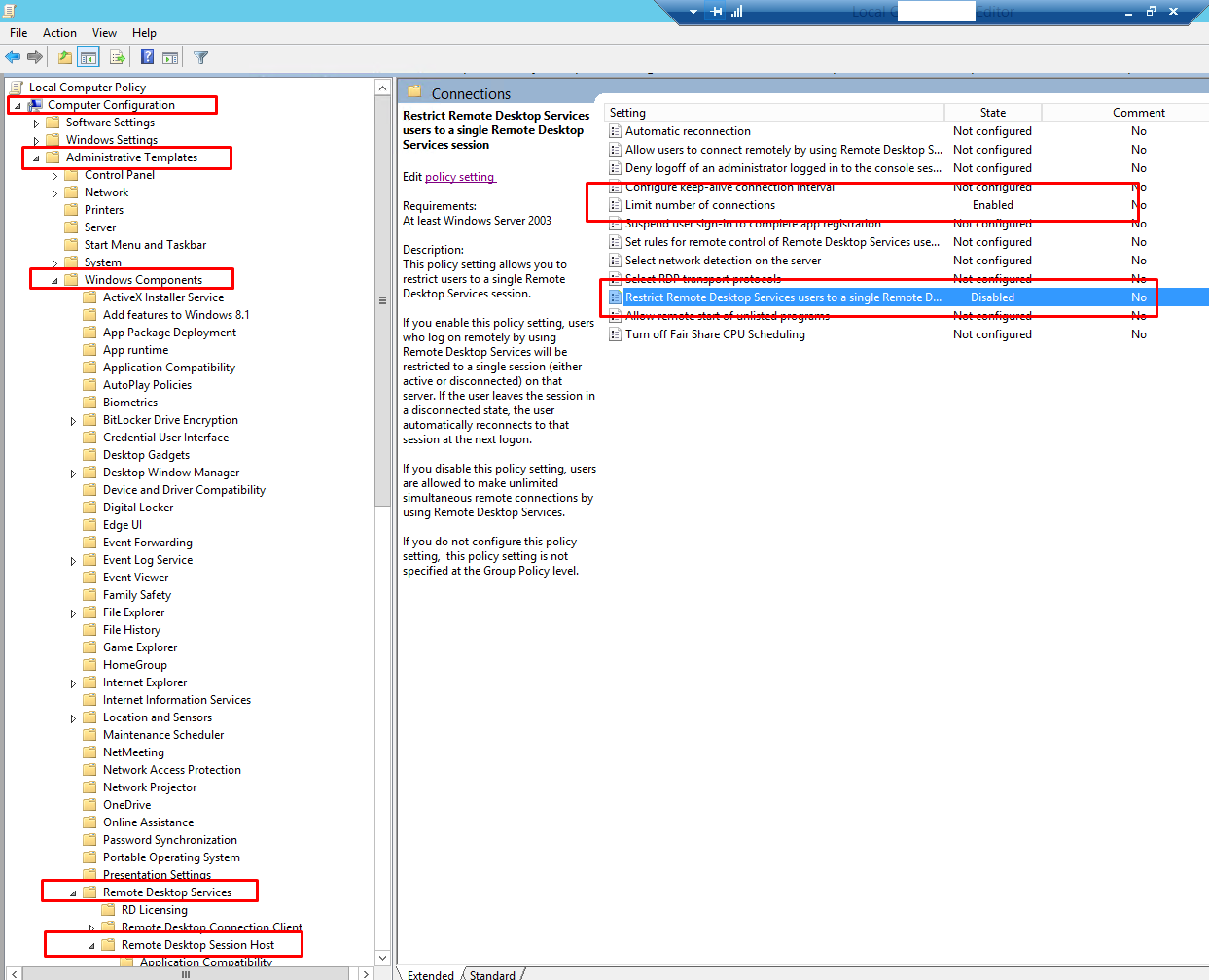 How To Enable Disable Multiple Rdp Sessions In Windows 2012