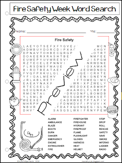 Fire Prevention Week Worksheets