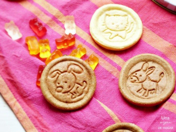 galletas caseras con formas de animales hechas por niños