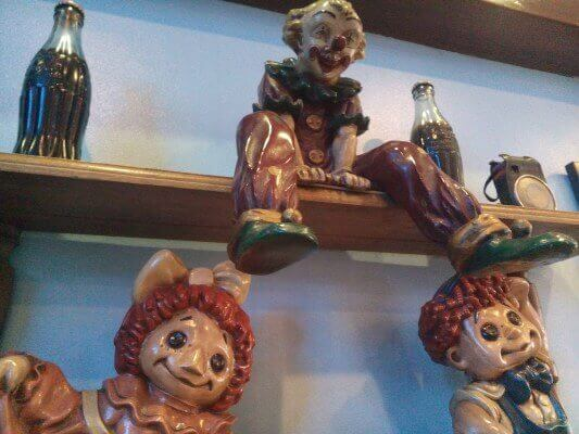 halloween figureen in restaurant