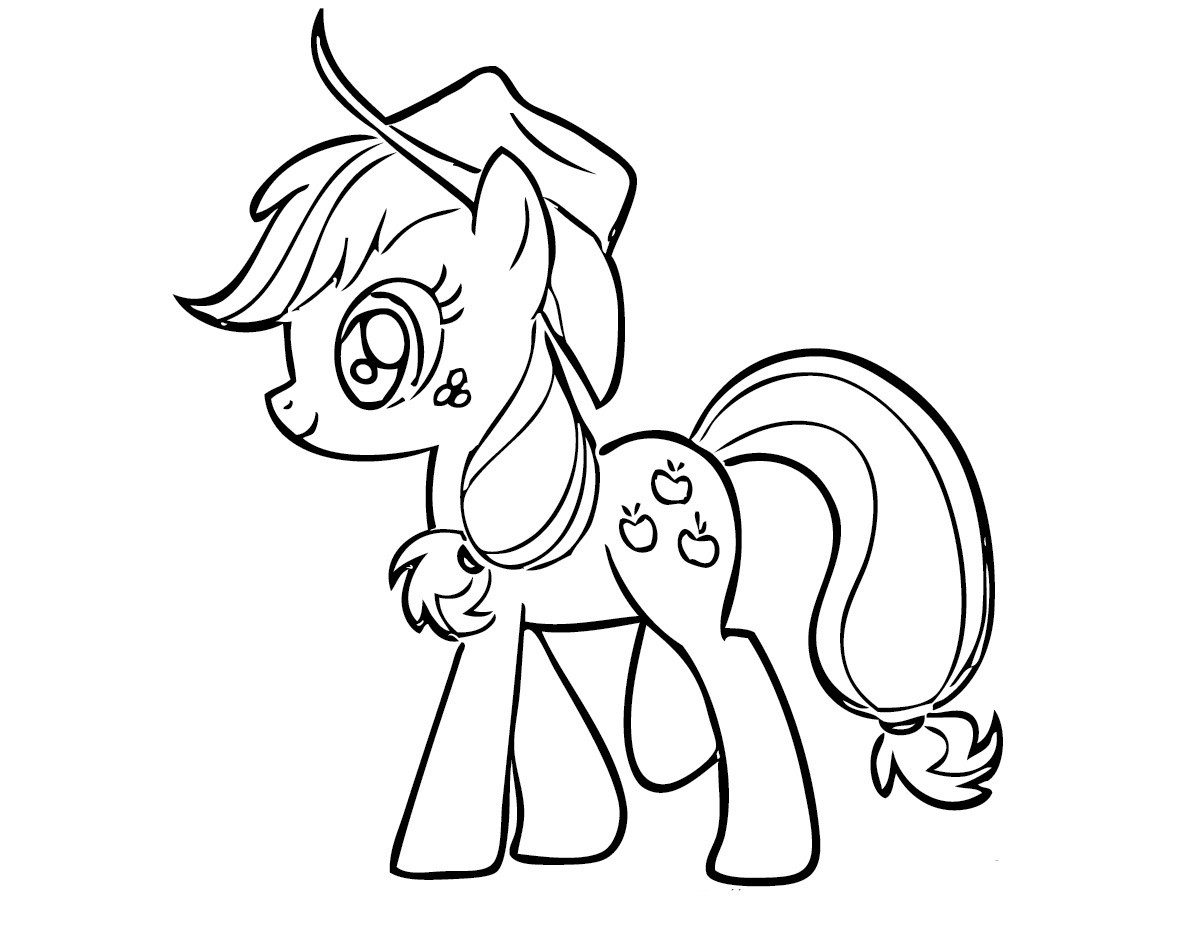 mlp coloring pages applejack-#43