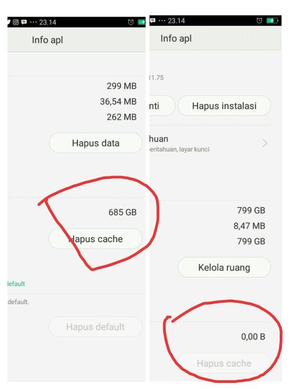 Cara Hapus Cache Aplikasi pada Android dan Kenapa harus di Hapus