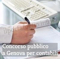 concorso pubblico a genova per contabili