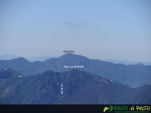 Desde el Maciédome, vista del Retriñón y Visu La Grande
