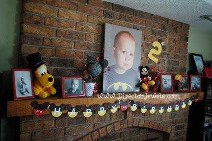 Easy DIY Mickey Mouse Clubhouse Happy Birthday Party Banner Tutorial - #DisneySide #MickeyMouse #Birthday