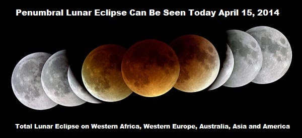 Western Africa, Western Europe, Australia, Asia and America, a total lunar eclipse will be observed