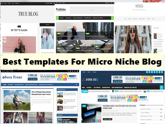 5 Best Blogger Templates For Micro Niche Blog