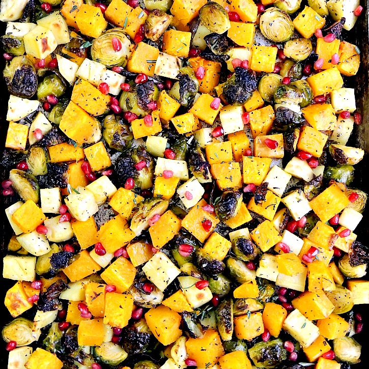 Sheet Pan Roasted Vegetables are the easiest, and tastiest vegetables you can make. I guarantee they will become a family favorite!  #sheetpan #easy #recipe #sidedish #vegetarian #glutenfree #lowcarb | bobbiskozykitchen.com