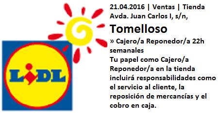 Lanzadera de Empleo Virtual Ciudad Real, Ofertas Lidl Tomelloso