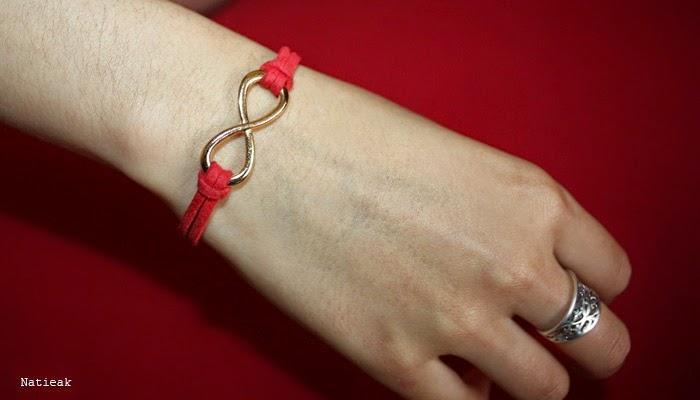Bracelet rouge infini rouge