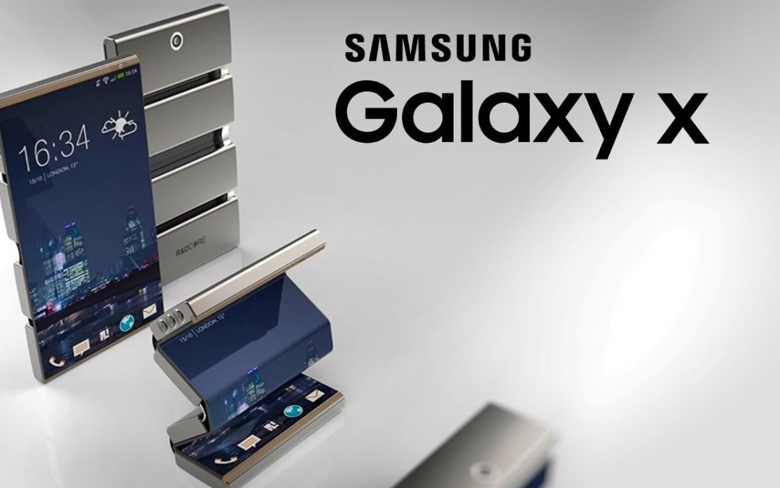 samsung galaxy x the foldable smartphone. Black Bedroom Furniture Sets. Home Design Ideas