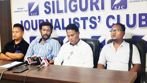 Morcha leaders in the Terai address press conference in Siliguri