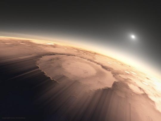 Марс, схід сонця