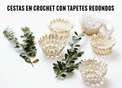 Cestas mini para fiestas en crochet