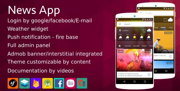 News App v1 5 - Material Design | Codelist | Download Free
