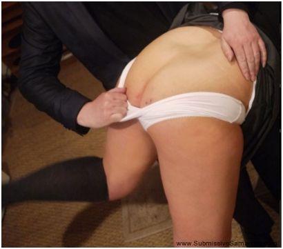 bend over panties down fingered
