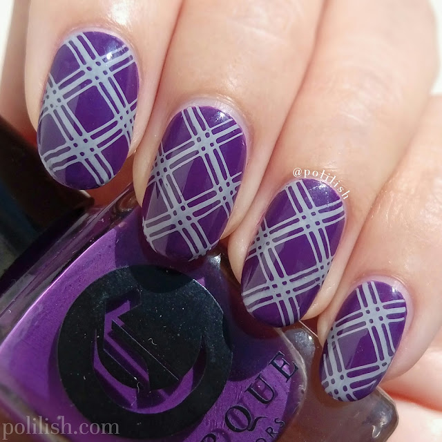 Geometric nail art with Hehe plate and Cirque Colors | polilish