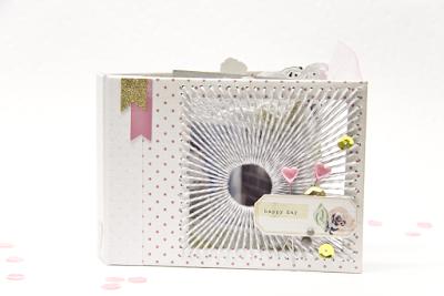 Minibook #Crate #Glitter #DIY #Bookbinding