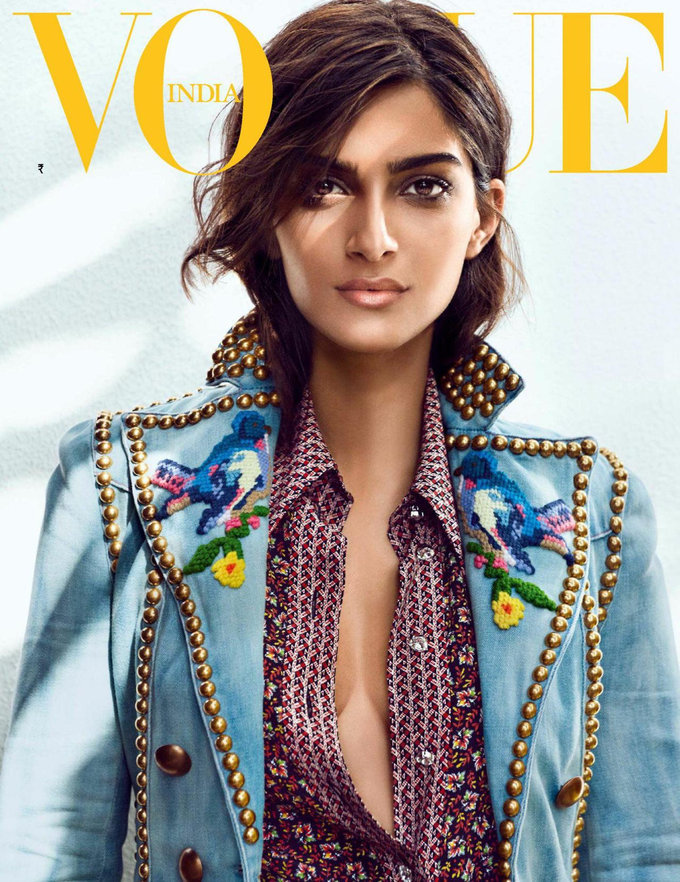 Indian Model Sonam Kapoor Photo Shoot In vogue India 2017