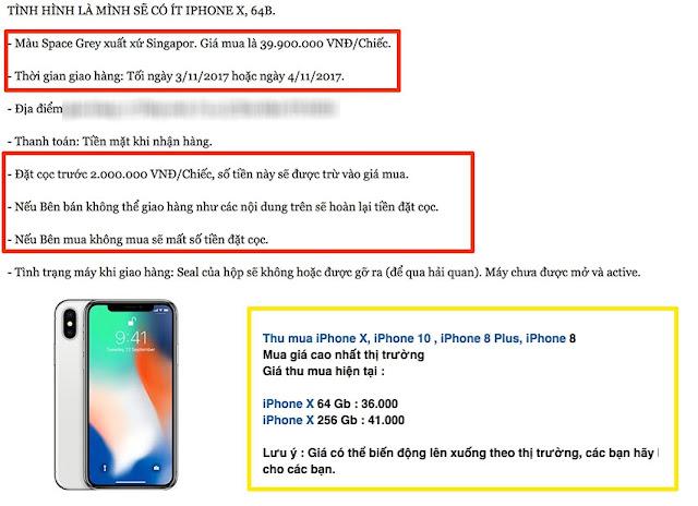 iPhone X chốt giá 40 triệu đồng tại Việt Nam