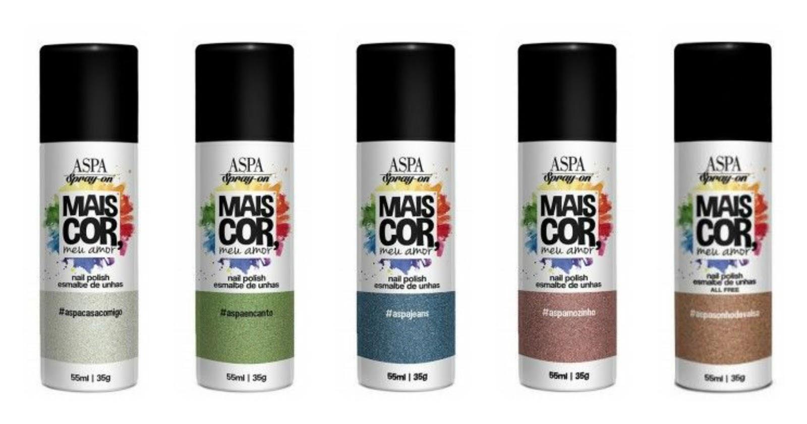 esmalte em spray; coleção mais colorida; mais cor, meu amor;