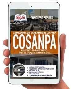 Apostila Digital COSANPA 2017 Assistente Administrativo