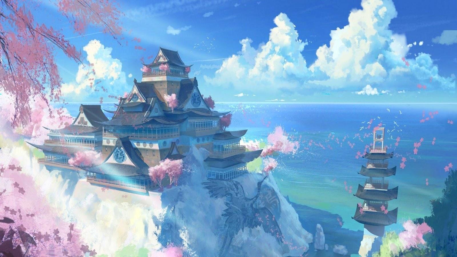 Wallpaper Kastil Jepang