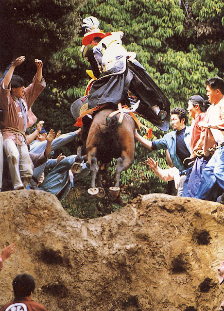 Tado Matsuri (yabusame & horse riding up stairs), Kuwana City, Mie