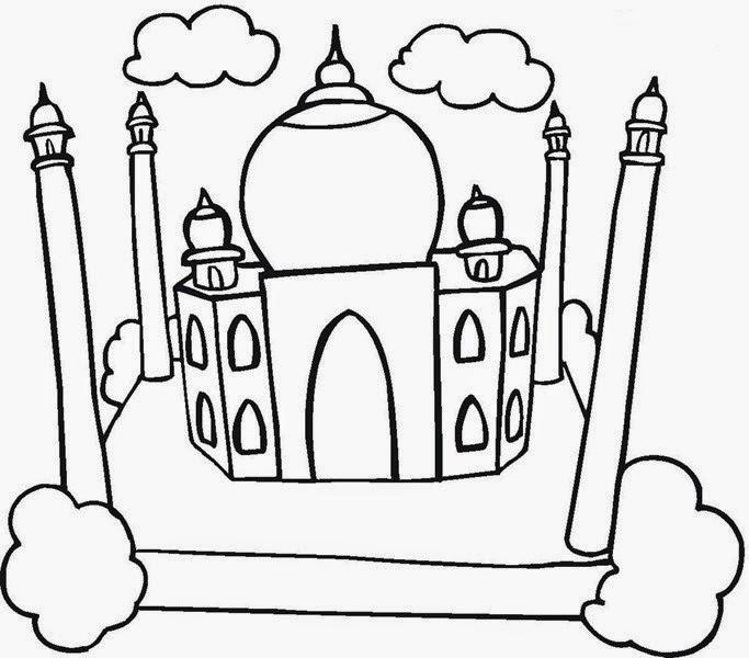 Cami Resimleri Boyama Etkinlikleri Bilgi çeşnisi