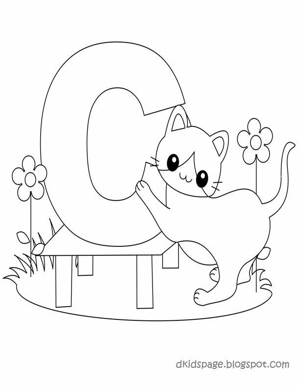 kids page c is for cat worksheet alphabet letters worksheet for kids. Black Bedroom Furniture Sets. Home Design Ideas